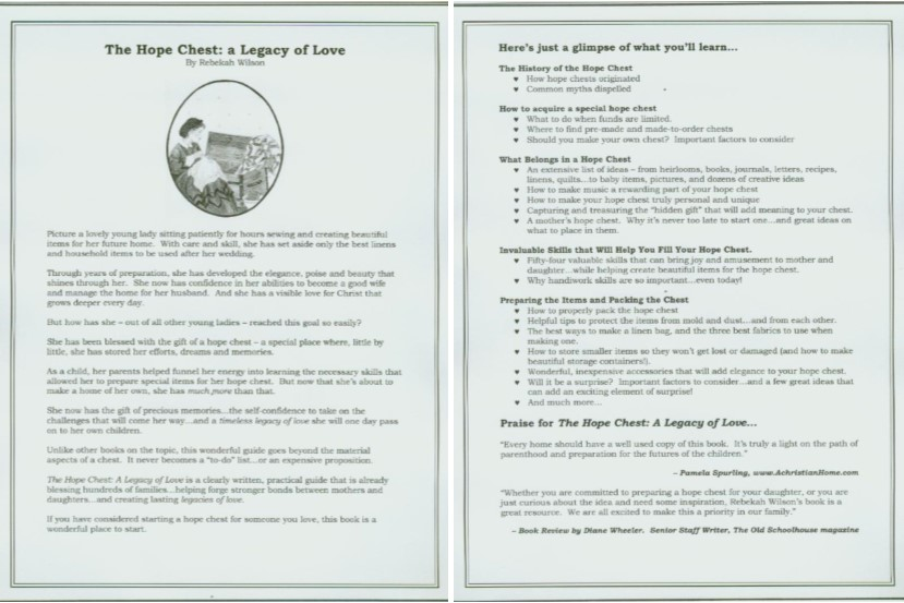 Hope Chest Brochure image